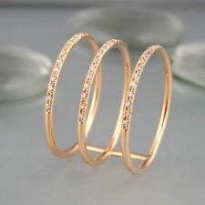Ring mit 0,12ct Diamanten W-si in 750/18k Roségold NEU Gr. 53