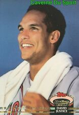 592  DAVID JUSTICE MC  ATLANTA BRAVES TOPPS BASEBALL CARD STADIUM CLUB 1992