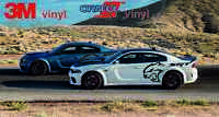 Dodge Charger srt hellcat decals, stickers bubble free 2015-2020