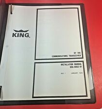 1976 King KY 195 COMM Transceiver Installation Manual 006-0062-01