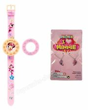 Minnie mouse Time teacher Watch & necklace  Disney Kids Learn To Tell The Time