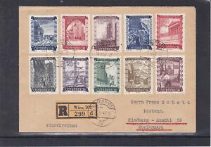 SELTEN ERSTTAG Wiederaufbau 1948 auf Reco Satzbrief Wien - Kindberg