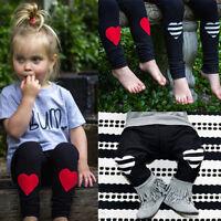 Toddler Kid Newborn Baby Boy Girl Heart Harem Pants Leggings Trousers Sweatpants