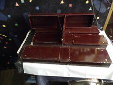 4 Vintage Banker's Vault Safety Deposit Box Metal Drawer Bank Tray Case,1900'S