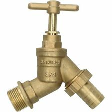 "3/4"" Hose Union Bib Tap Brass Outdoor Water Supply Weather-Resistant Barb"