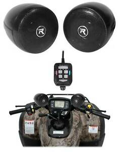 Rockville Bluetooth ATV Audio System w/ Handlebar Speakers For Can-Am Outlander