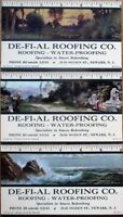Newark, NJ 1945 Advertising Blotters SET OF THREE w/Rulers - Roofing Co.