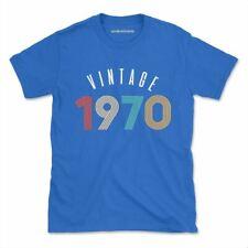 Vintage 1970 Tshirt Funny Birthday Custom Awesome Womens Mens