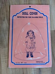 """Vintage Doll Clear Cover Protection For Valuable 16"""" Dolls"""