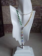 Real Swarovski Crystal rosary or necklace 6 mm Rainbow