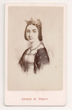 Vintage CDV Joan of France, Duchess of Berry Queen of France E Neurdein Photo