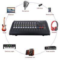 10 Channel 2000 Watt Powered Audio Mixer power mixing Amplifier Amp w/ USB Slot