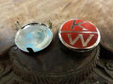 Kenworth Vintage Horn Button acid etched Brass Nickel Plated