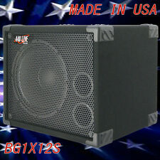 1X12 Bass Guitar Speaker Cabinet 350W 8 Ohms Black Carpet  440LIVE BG1X12S 400