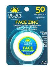 Ocean Potion Face Clear Zinc Oxide, Sunscreen SPF 50, 1 Ounce
