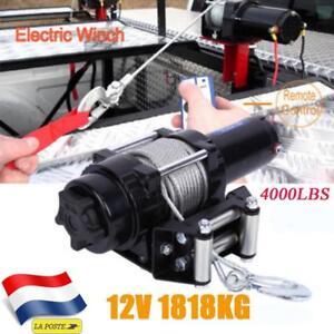 4000lbs Treuil manuel Treuil à câble Treuil à main pour remorque auto bateau 12V