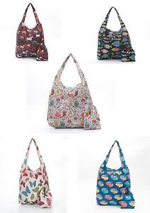 Eco Chic Foldaway Shopper Bag / Shopping Bag / Travel Bag - Choice Of Styles