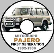 MITSUBISHI PAJERO First Gen 1982 - 1989 4G54 G54A 6G72 Workshop Manual CD