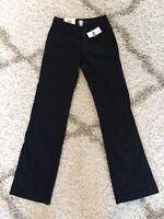 NEW NWT Womens GAP CURVY STRETCH Slacks PANTS Trousers 1 Black  Gapstretch