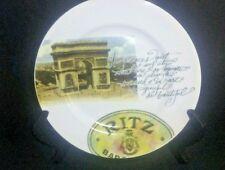 """CIPA Porcellane """"Hotel Ritz Barcelona Crest/ L Arc' de Triophe Decor Plate 8""""D"""