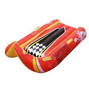 Snow Tube Inflatable Sled Winter Durable 2-person Sledding Kids Unisex Red PVC
