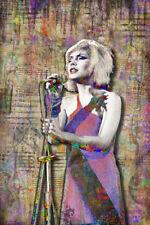 Debbie Harry of Blondie Tribute Poster Debra Harry Blondie 12x18inch Free Ship