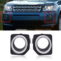 2pcs Fit For Land Rover LR2 2013-2015 Front Left Right Fog Lamp Light Cover Trim