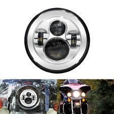 "1P 7"" INCH Chrome LED Headlight Harley Davidson Fatboy Heritage Softail Yamaha"