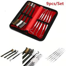 9pcs Weapon Cleaning Kit Hunting Gun Cleaning Pick Gun Accessories Brush Set