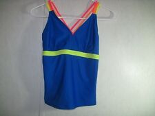 Xhilaration Girls Bathing Suit Top Tankini Size XL UPF 50+ New With Tags