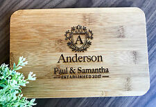 """Personalised Engraved """"Regal Design"""" Mini Bamboo Serving /Chopping /Cheese Board"""
