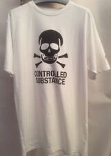 NWOT Controlled Substance SSUR  White Tee Shirt Large