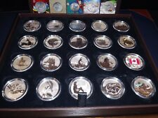 Canada $20 for $20 Dollars Pure Silver Coin Collection Setwith case