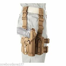 BlackHawk Serpa Tactical Holster Lvl 3  430604CT-L Tan Beretta 92, 96, M9, M9A1