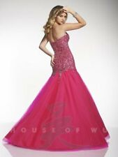 Panoply 14645 Hot Pink Panoply Mermaid Pageant Gown Dress sz 12 FLASH SALE NWT