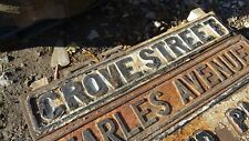 "Victorian cast iron street sign "" CROVE STREET  """