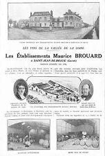 45 SAINT-JEAN-DE-BRAYE LES ETS MAURICE BROUARD VINS DE LOIRE ADP 1924