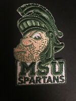"MSU Michigan State Spartans embroidered iron on patch  vintage 3"" X 1.75"""