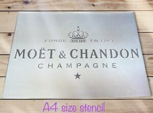 Champagne Stencil French Champagne Bar Crate Alcohol Wall Furniture Decor