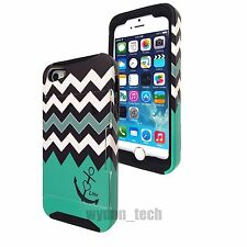 For iPhone 5S 5C 4S Credit Card Hybrid Shockproof Case Cover Kickstand Feature