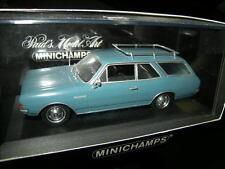 1:43 Minichamps Opel Rekord C break 1966 blue/azul nº 430046111 OVP