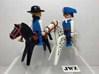 Vintage 1974 Playmobil (Geobra) Figures & Horse Bundle x2