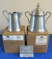 International Silver Co Pewter Lighthouse Sugar Bowl and Creamer w/OB Lot H