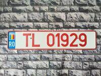 Romania Provisional License Plate  Pre Euro Tulcea County #5