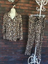 PJ Couture Leopard Pajama Set Medium Animal Long Sleeve Set Soft New Tags NWT