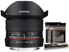 Samyang 12mm F2.8 ED NCS AS FISH-EYE Full Frame Lens for Nikon AE Version +GIFT
