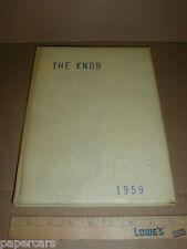 1958-59 Casar High School Casar NC vintage Yearbook Grades 1-12 Cleveland County