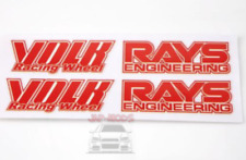 RED Rays Volk racing Wheel Stickers/decals x8,RWB/hellaflush/speed star/work