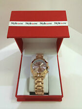 NEW! STYLE & CO ROSE GOLD-TONE BRACELET BOYFRIEND WATCH SC1381 SALE