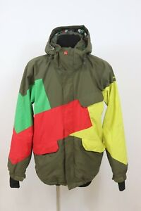 Quiksilver Mens FATIGUE QuikTech 5K mm Quilted Hooded Breathable Ski Jacket sz L